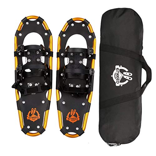 ENKEEO All Terrain Snowshoes Lightweight Aluminum Alloy Snow Shoes with Carry Bag and Adjustable Ratchet Bindings, 80/120/160/210 lbs. Capacity, 18'/21'/25'/30'