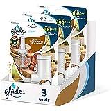 Glade Bali Sándalo & Jazmin - Pack de 3 Ambientadores Eléctricos Líquidos con Aceites Esenciales (Difusor + Recambio)