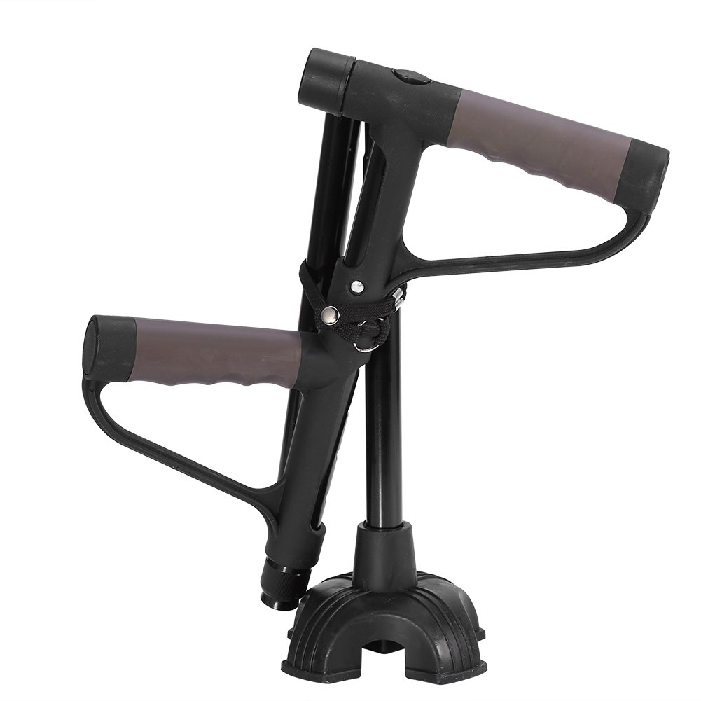 Retractable Collapsible Brand Cheap Sale Venue Walking Stick Double Anti-Slip SEAL limited product T-Handle
