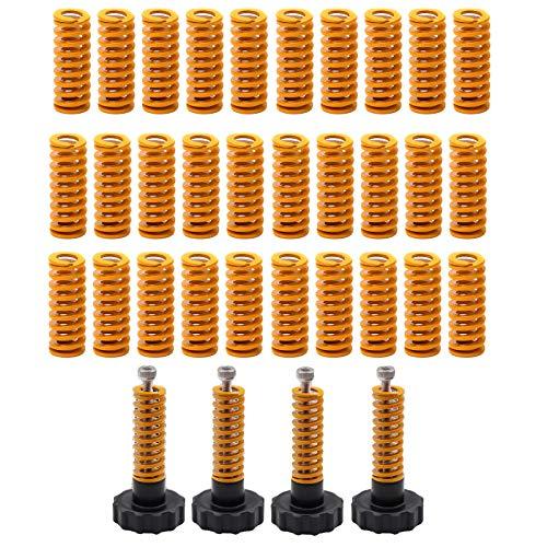 30 PEZZI Molle di Compressione, Accessori per stampanti 3D, Molle a testa portapettini 0,31 in OD 0,78 in lunghezza, compatibili con CR-10 10S S4 Ender 3 Livello di connessione inferiore della molla