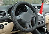 Nikavi Car Steering Wheel Cover, Microfiber, Emboss Holes, Soft Padding Great Hand Feel