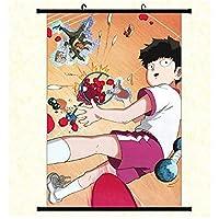 アニメマンガ生地壁スクロールポスタールーム家の装飾壁アートぶら下げ写真暴徒サイコ100 50x75cm