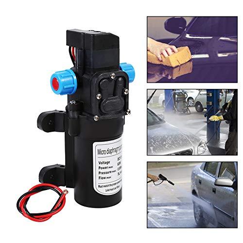 Hochdruck-Mikro-Membran-Wasserpumpe, 12 V, 5 l/min, 60 W, automatischer Schalter, selbstansaugende Pumpe für Wohnwagen, Boot, Wohnmobil, Garten