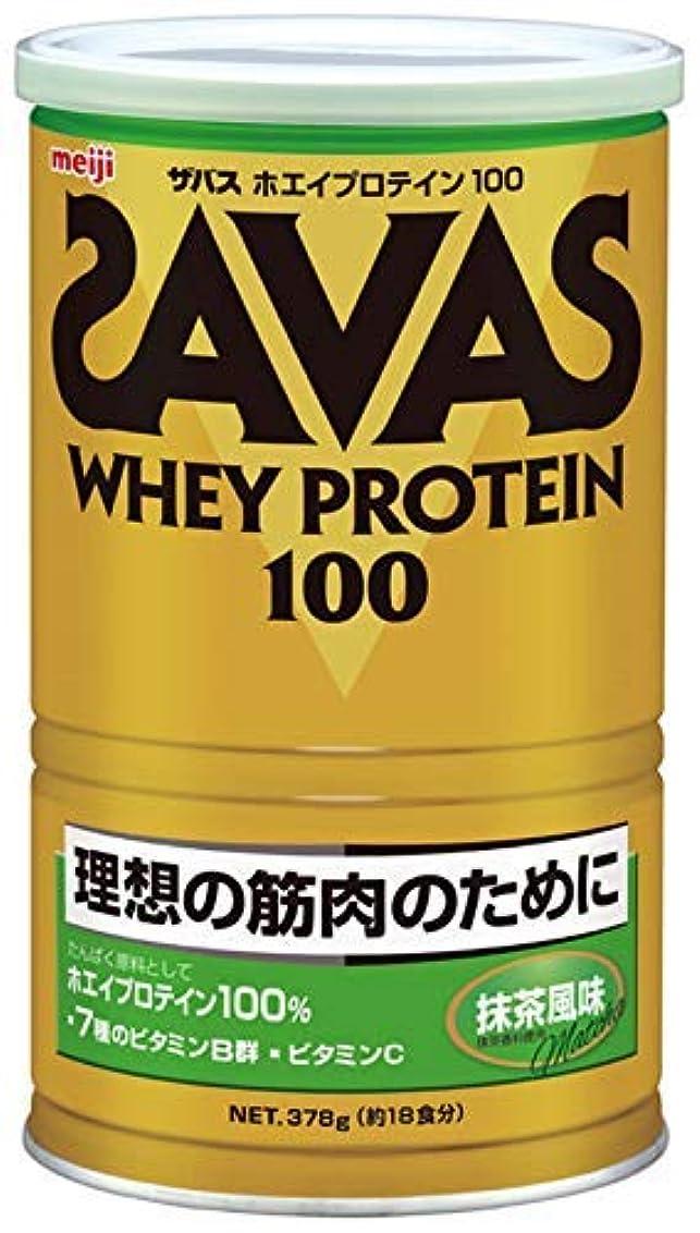 洗練された主観的青写真明治 ザバス ホエイプロテイン100 抹茶風味 378g 約18食分 × 5個セット