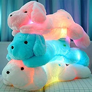 Ocaler LED Plush Toys Dog, Luminous Glow in Night Lovely Plush Toys Kawaii Teddy Dog Stuffed Animal Pillow Bolster - Best Gift for Kids Children Party Birthday (Pink)