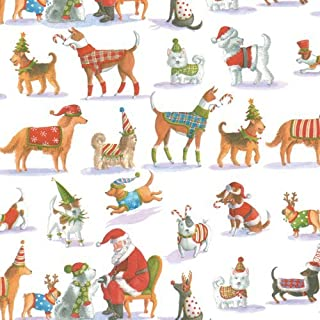 Wrapping Paper Two 8 Foot Roll Christmas Gift Wrap Ideas Christmas Waiting for Santa, 2 Rolls