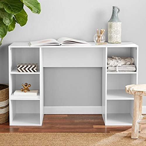 Mainstays Student Desk, Black (6 Cube Storage Desk, White)