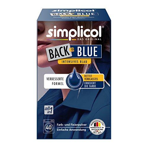 Simplicol Farberneuerung Back-to-Blue, Blau: Farbauffrischung und -Erneuerung in der Waschmaschine, Hautfreundlich, All-in-1 DIY Färbemischung mit Textilfarbe für Stoffe
