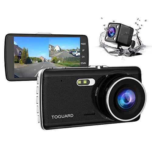 Toguard Caméra double objectif de tableau de bord