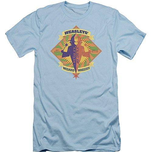Harry Potter Herren T-Shirt Wizard Wheezes Slim Fit Hellblau -  Blau -  Mittel