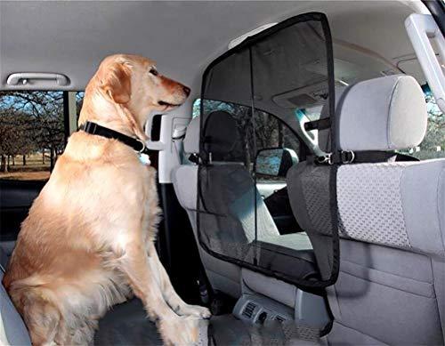 LALAWO Huisdier auto wieg kussen Guard De hond huisdier Barrier Bar, blokkeren de hond van het invoeren van de voorstoel van de auto om de hond te houden in de achterbank Grid Perspective Window