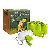 Moonygreen Dog Poop Bag with Dispenser, Compostable Vegetable-Based Doggie Bag...