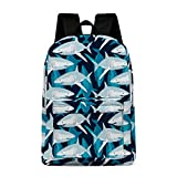 Shark School Backpack, Cool Classic Lightweight Bookbag Durable Nylon Shoulders Bag Casual Daypack for Teen Boys Girls High School, 17 Inches