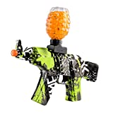 Anstoy Electric with Gel Ball Blaster AEG AKM-47 for Outdoor Activities-Fighting Shooting Team Game (Green)