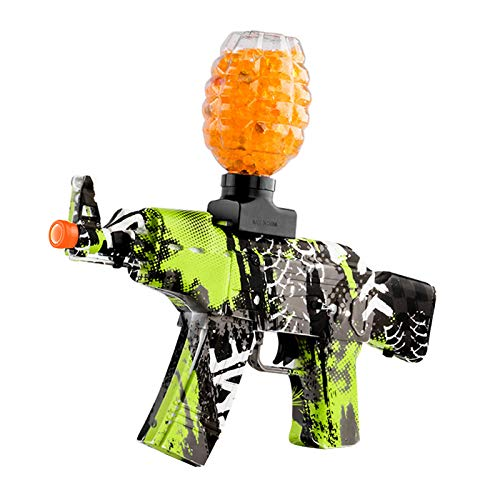 Anstoy Electric with Gel Ball Blaster AEG AKM-47 for Outdoor Activities-Fighting Shooting Team Game (Graffiti Green)