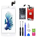 QTlier iPhone 6s Screen Replacement 4.7' White,LCD Display & Touch Screen Digitizer with 3D Touch Frame Assembly Set for iPhone 6s 4.7 inch with Repair Tool kit