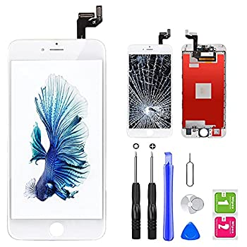 QTlier iPhone 6s Screen Replacement 4.7  White,LCD Display & Touch Screen Digitizer with 3D Touch Frame Assembly Set for iPhone 6s 4.7 inch with Repair Tool kit