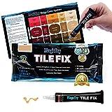 MagicEzy Tile Fix - Rellena y colorea grietas de baldosas finas en segundos (Rojo beige)