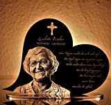 CHRISCK design Gedenktafel Gedenkstandbild Herz Form mit Gravur persönliches Andenken Grabstein - 9