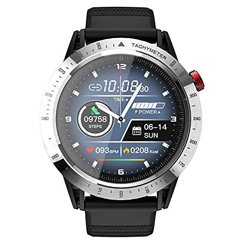 Rvlaugoaa Smartwatch Rastreador de Ejercicios Reloj Inteligente Mensaje Bluetooth Empuje la cámara remota Pantalla de IP68 Pulsera Deportiva a Prueba de Agua para teléfonos iPhone/Android