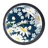 Gbziyjk Tiradores de cajón para decoración de Armario de Cocina de Oficina en casa,Hermosa Flor