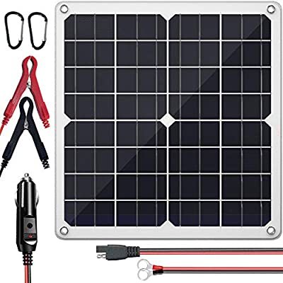 SUNAPEX 20W 12V Portable Solar Battery Charger & Maintainer - Solar Panel -Built-in Intelligent Charge Controller-Solar Powered Charger for Automobile Car RV, etc