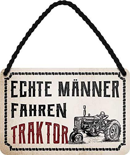 Cartel de chapa con texto en alemán