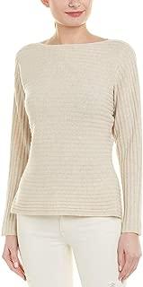 Vince Womens Dolman Wool & Cashmere-Blend Sweater, L, Beige
