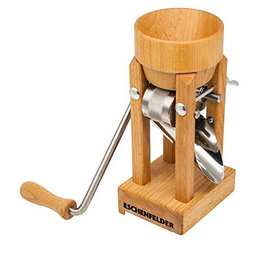 Eschenfelder Kornquetsche | Flocker | Tischmodell Holztrichter und Alutrichter | Flockenquetsche | Porridge Selbermachen | Müsli (Holz-Trichter)