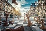 Puzzles para Adultos Rompecabezas de 1000 Piezas, Educativo Intelectual Descomprimiendo Juguete Divertido Juego Familiar Mundo del ajedrez