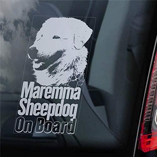 Maremma Sheepdog on Board Autoaufkleber Pastore Abruzzese Maremmano Hundeschild Aufkleber Autoaufkleber Vinyl Aufkleber Fenster Aufkleber Stoßstange Aufkleber