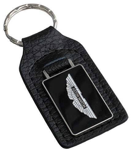 Triple-C Aston Martin Leather and Enamel Key Ring Key Fob