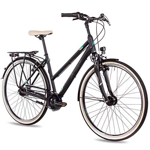 Airtracks Damen City Fahrrad 28 Zoll Cityrad CI.2820L Schwarz Matt (52cm (Körpergröße 175-185cm))