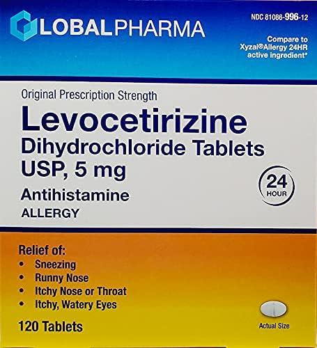 Global Pharma Levocetirizine Dihydrochloride Challenge the lowest Genuine price 5mg 2 USP Tablets