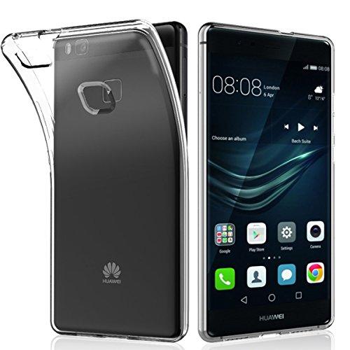 NEW'C Cover Compatibile con Huawei P9 Lite, Custodia Gel Trasparente Morbida Silicone Sottile TPU [Ultra Leggera e Chiaro]