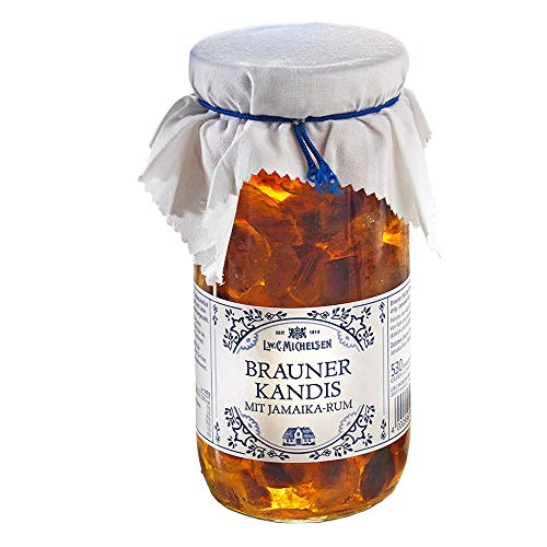 Brauner Rum-Kandis, Kandis mit Jamaika-Rum, Ideal zum Tee (530 g)