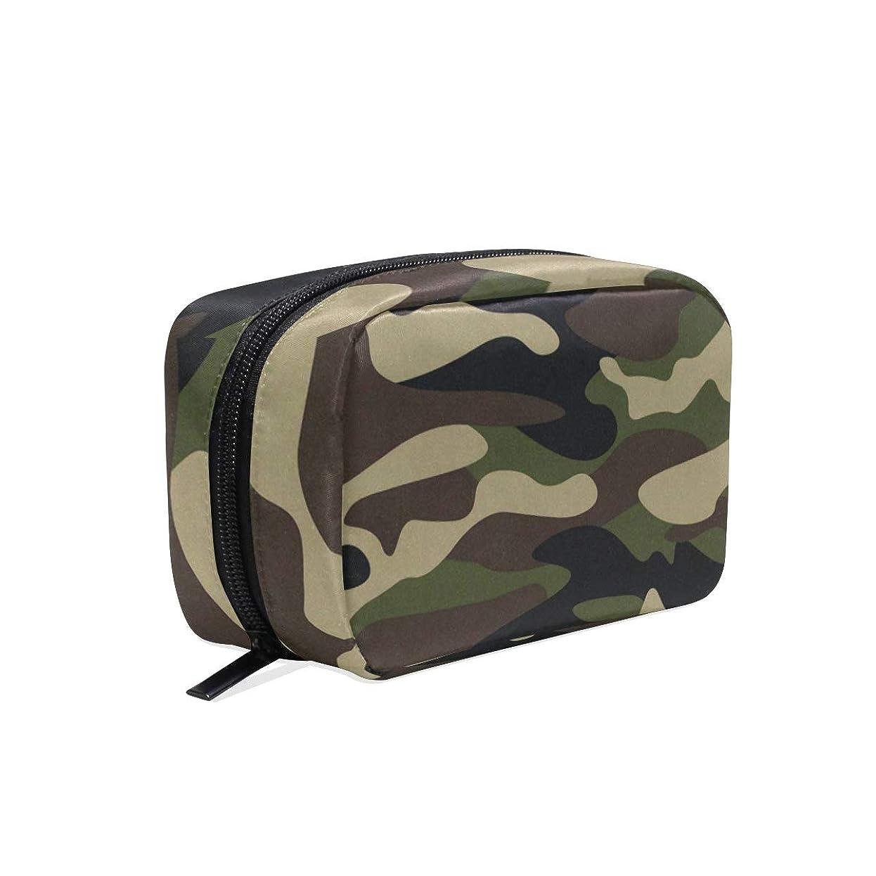 耐えるレタス無心迷彩柄 化粧ポーチ メイクポーチ 機能的 大容量 化粧品収納 小物入れ 普段使い 出張 旅行 メイク ブラシ バッグ 化粧バッグ