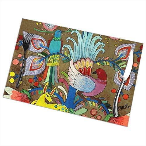 Amate Uno Tischsets für Esstisch, waschbar, hitzebeständig, 30,5 x 45,7 cm, 6 Stück