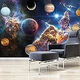 3D Papel Tapiz Hermoso Universo Galaxia Cielo Estrellado Mural Grande Restaurante Dormitorio Sala De Estar Póster Imagen Pintura De Pared-300cmx210cm(LxA)