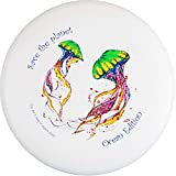 eurodisc 175 G Ultimate Frisbee Disc Wettkampf-Wurf Disco in plastica Biologica Stabile Volo Oltre 100 Metri, Design Foto Immagine Save The Planet Jellyfish Ocean Edition