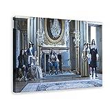 TV Versailles Leinwand-Poster, Wandkunst, Deko, Bild,
