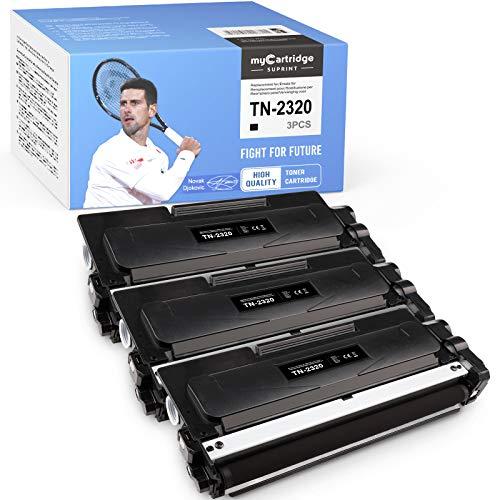 myCartridge SUPRINT TN-2320 TN-2310 Toner 3 Nero Ricambio per Brother TN2320 TN2310 per Brother MFC-L2700DW MFC-L2700DN MFC-L2720DW L2740DW HL-L2340DW L2300D L2360DN DCP-L2500 D L252. 0DW L2540DN.