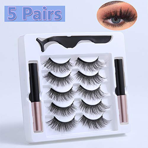 UNICK Hot Sale Long-lasting Waterproof Handmade Natural Long With Tweezer Magnetic Eyeliner Lash Extension Magnetic Eyelashes(Y-23) 8