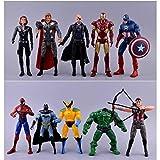 Modelo De Anime10 Piezas The Avengers Super Heros Wolverine Y Capitán América Y Thor Y Hulk Y Iron M...