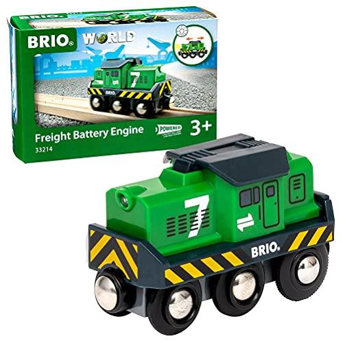 Brio 33214 - Locomotiva per Treno Merci a Batterie, BRIO Treni-Vagoni-Veicoli, Età Raccomandata 3+