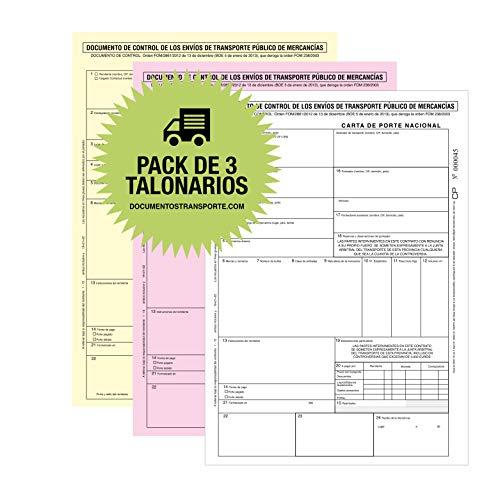 CARTA DE PORTE. Pack 3 Talonarios Autocopiativos 3 copias numeradas