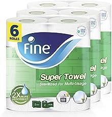 Fine, Sterilized Paper Towel – Super, Sterilized, 60 sheets x 2 Ply, pack of 6 rolls