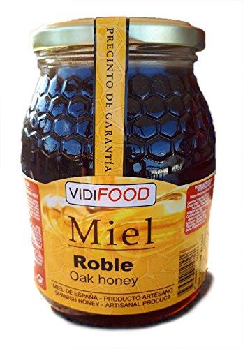Miel de Roble - 1kg - Producida en España - Alta Calidad, tradicional & 100{712179d0e6505e8d1d05b1eb0b2e8c8157f4e3eb31f1031ad19098683d820667} pura - Aroma Floral y Sabor Rico y Dulce - Amplia variedad de Deliciosos Sabores
