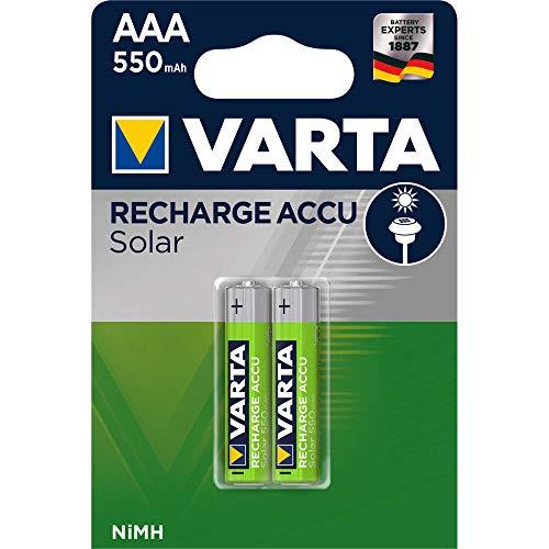 VARTA NiMH Akku ´Rechargeable Accu Solar´, Micro (AAA/HR03), Inhalt: 2 (Neu)
