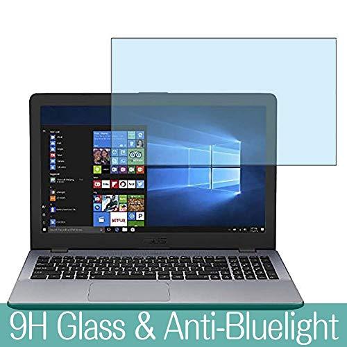 VacFun Anti Luce Blu Vetro Temperato Pellicola Protettiva per ASUS VivoBook 15 X542UN X542UN-8550 2018 15.6' Visible Area, 9H Pellicola Vetro Screen Protector Filtro Luce Blu(Non Piena Copertura)